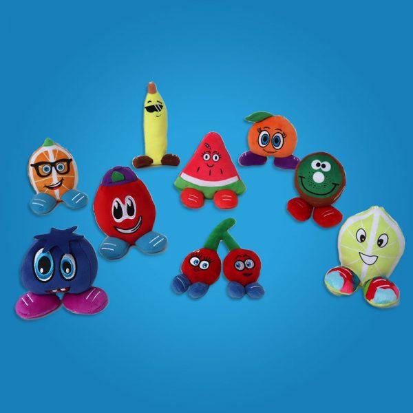 9 Lil' Fruityz Plush Toys